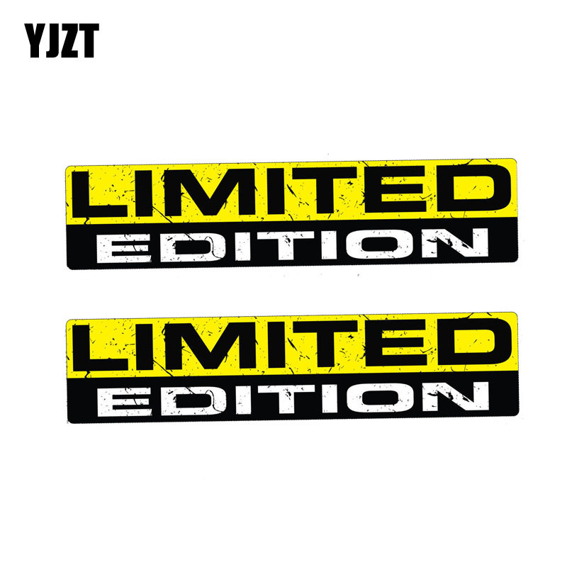YJZT 2X 15CM*3CM LIMITED EDITION Funny PVC Decal  Funny Personality Car Sticker 12-0061
