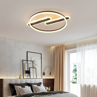 Nordic Ceiling Lights LED Lamp For Bedroom Study Room Kitchen White brown surface mounted Home Deco Ceiling Lamp AC85 265V