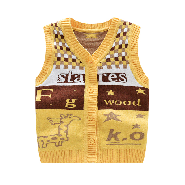 0114d65f6 2018 Cartoon Deer Newborn Vest Fashion Star Newborn Clothes Cotton ...