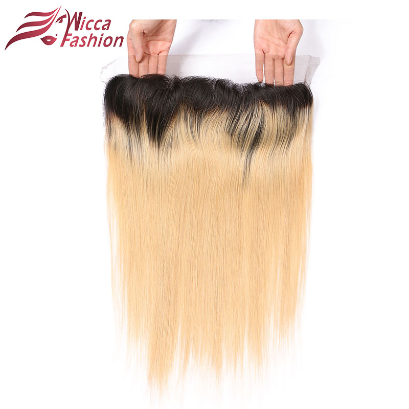 Dream Beauty Brazilian Non Remy Human Hair Ombre Honey Blonde 13 4 Lace Frontal Closure Ear