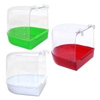 Parrot   Bird   Bathtub Box   Bird   Cage Bath Shower Standing Box Bin Wash Space   Bird     Supplies