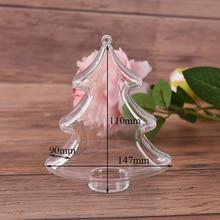 Форма рождественской елки, Прозрачный Рождественский шар, сделай сам, для праздника и вечерние, пластиковый заполняемый мяч, подвеска для дома, дерева, подвесное украшение