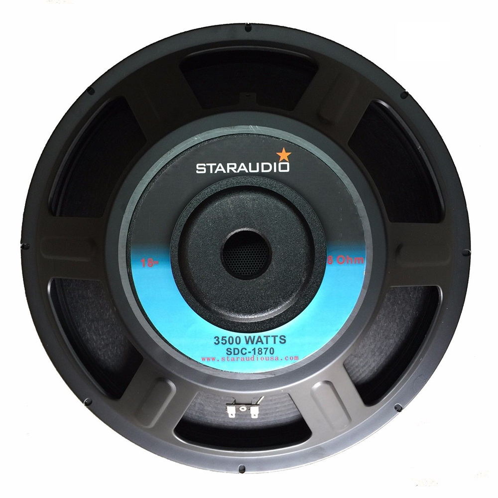 """STARAUDIO 3000W 18/"""" 8 Ohm Raw Replacemen Subwoofer PA Stage Speaker Woofer Bass"""