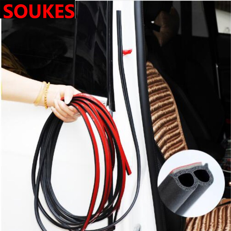 200cm Rubber Car Door Edge Trim Sealing Strip Sticker For Audi A3 A4 B8 B6 A6 C6 A5 B7 Q5 C5 8P Q7 TT C7 8V A1 Q3 S3 A7 B9 8L A8