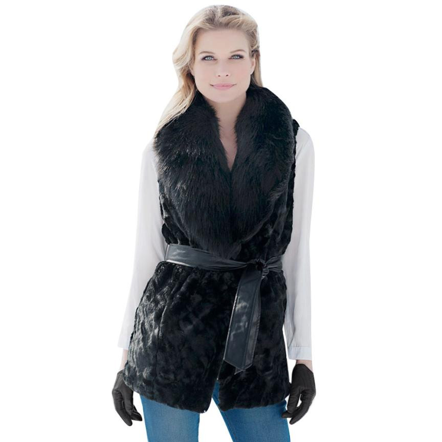 נשים פו פרווה גבירותיי שרוולים מעיל אפוד חזיית אפוד Gilet להאריך ימים יותר מעיל משיכת כתפיים