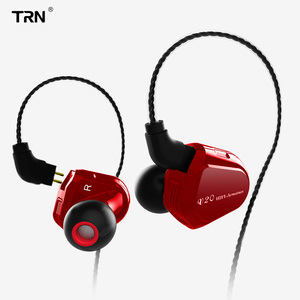 Image 3 - Ak trn v20 dd + ba híbrido no ouvido fone de alta fidelidade dj monitor correndo esporte fone de ouvido headplug 2pin cabo trn v80/v30/bt20/x6