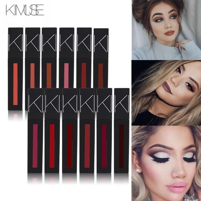 Us 213 8 Offmatte Lipstick Rouge A Levre Mat Lips Lipstick Makeup Waterproof Lip Gloss Matte Liquid Lipstick Batom Mate Maquiagem In Lipstick From