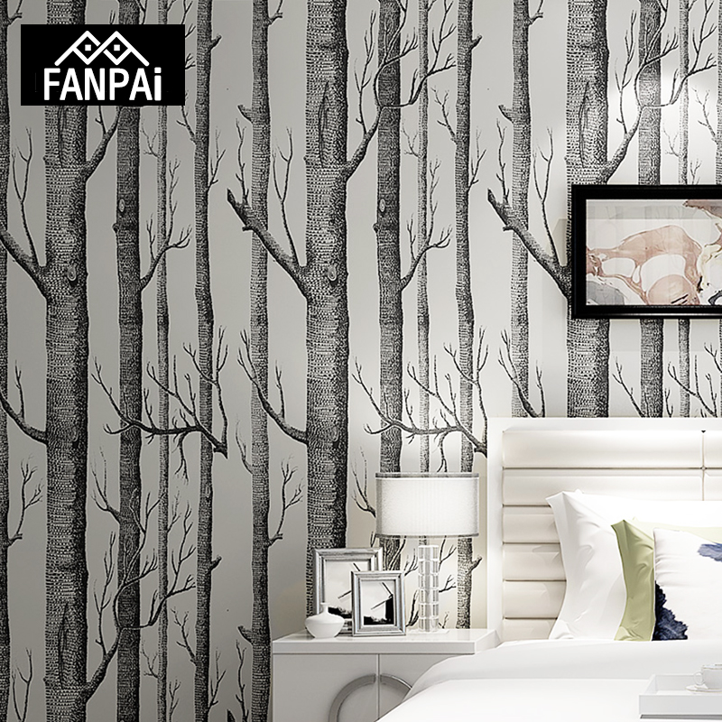 Fanpai White Birch Tree Wallpaper Home Decor For Bedroom