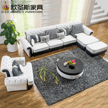 l shaped post modern italy genuine real leather sectional latest corner furniture living room sofa set designs pictures prices(China)