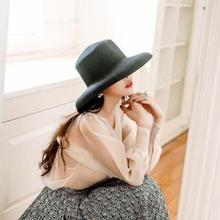 Yfashion Fashion Retro Beach Straw Hat Cap Simple Concise Sunscreen Solid Elegant Hats Caps for Women