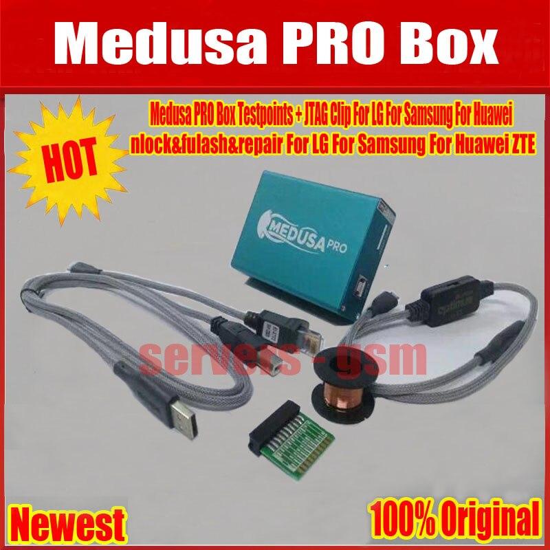 100% D'origine Boîte Medusa Medusa PRO Boîte Charges D'essai + JTAG Clip Pour LG Pour Samsung Pour Huawei + Livraison gratuite