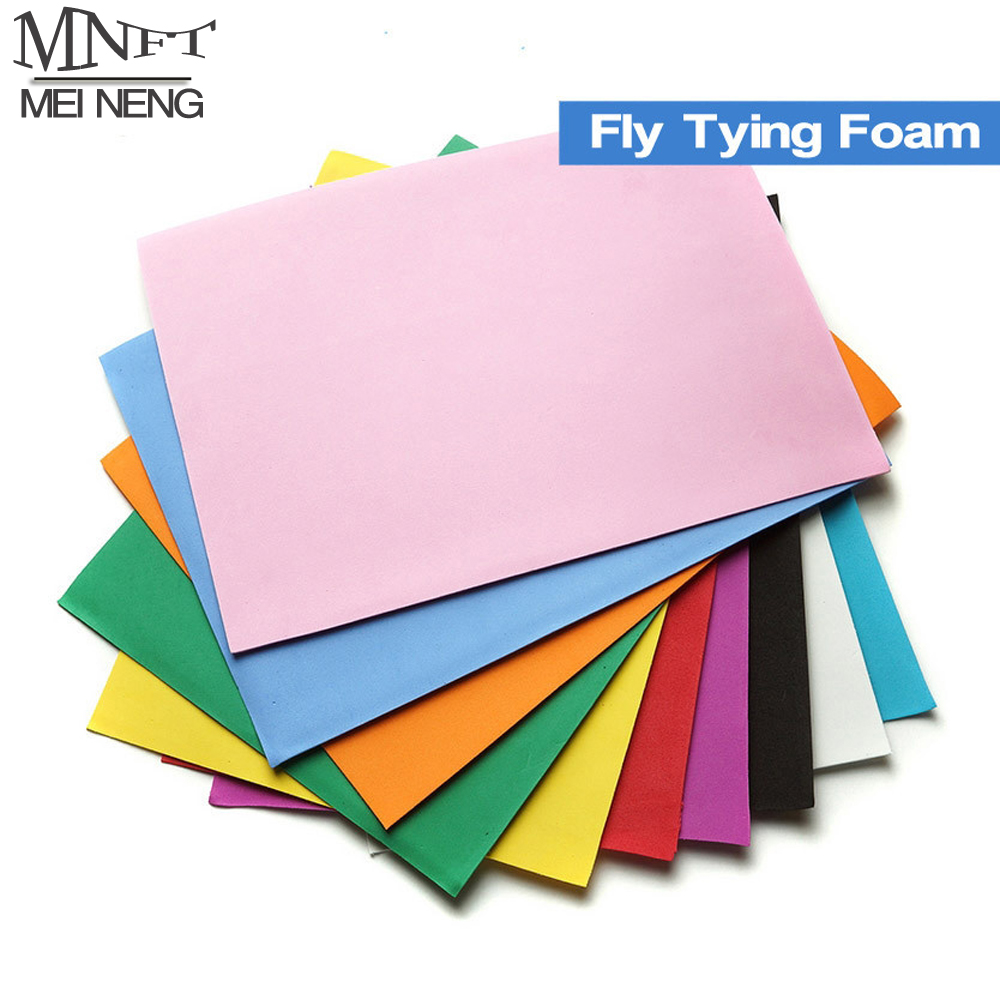 MNFT 25x25cm 10 PCS Fly Tying Foam Paper Foam For Flying Fishing Triple Decker Army Ant Bugs Making Fly Tying Material Bait DIY mnft 10 colors select 0 3mm 30m copper wire fly fishing lure bait making material midge larve nymph fly tying material