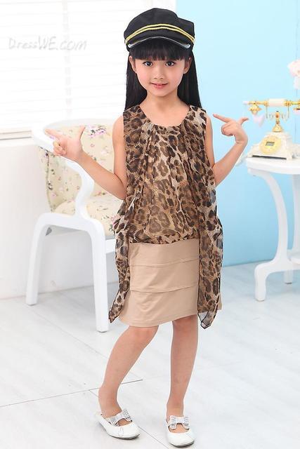 Splendid Patchwork Leopard Print Girl Designer Dress 10956418 ...