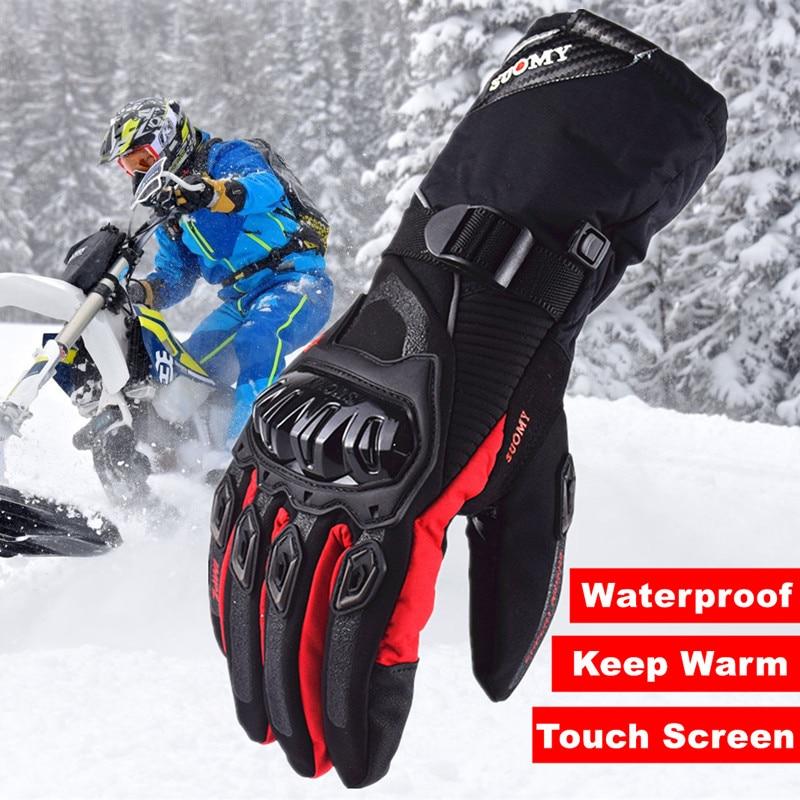 Suomy 2018 Winter warme moto rcycle handschuhe 100% Wasserdicht winddicht Guantes moto Luvas Touchscreen luva moto ciclista luvas moto
