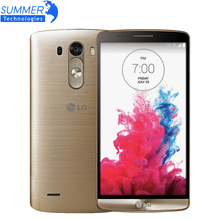 """Abierto original lg g3 d855 d850 teléfonos celulares 5.5 """"Quad Core 3 GB RAM 32 GB ROM 13MP NFC Andriod Teléfono Móvil Restaurado"""