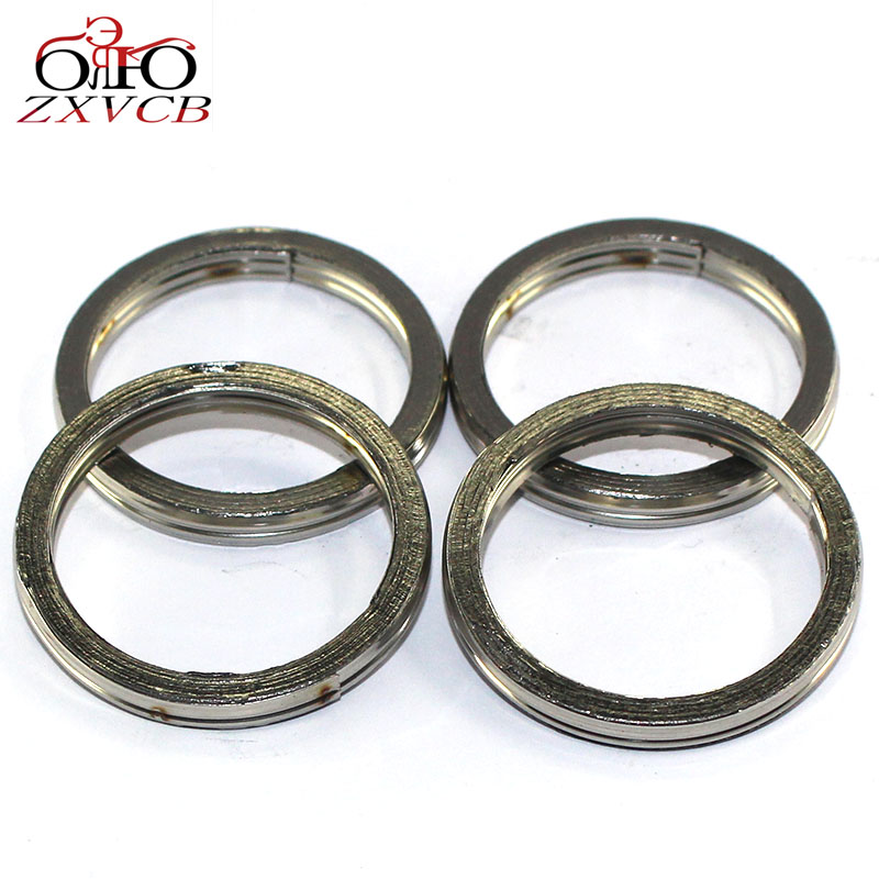 4PCS For SUZUKI GSF600 00-04 GSF <font><b>600</b></font> S 1996-2004 <font><b>GSX</b></font> <font><b>600</b></font> F 1992-2006 <font><b>GSX</b></font> 650 F <font><b>2008</b></font>-2011 2012 2013 engine Exhaust Pipe Gasket image