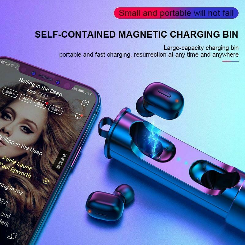 <font><b>Mini</b></font> <font><b>T1</b></font> <font><b>TWS</b></font> <font><b>V5.0</b></font> <font><b>Bluetooth</b></font> <font><b>Earphone</b></font> <font><b>3D</b></font> True Wireless Stereo Earbuds With Mic HiFi Deep Bass Sound Cordless Dual Headset image