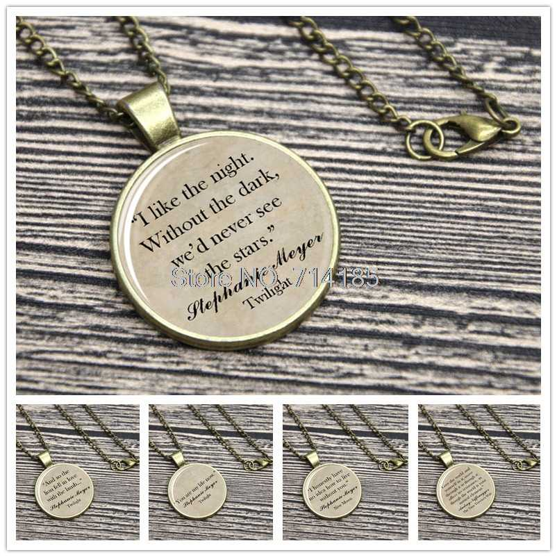 Stephanie Meyer Quote  Necklace Keyring Edward Cullen Breaking Dawn Eclipse The Time Traveler's Wife keychain