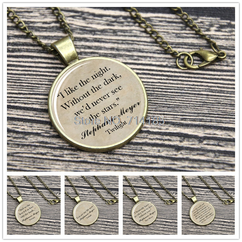 Stephanie Meyer Quote Necklace Keyring Edward Cullen Breaking Dawn Eclipse The Time Travelers Wife keychain