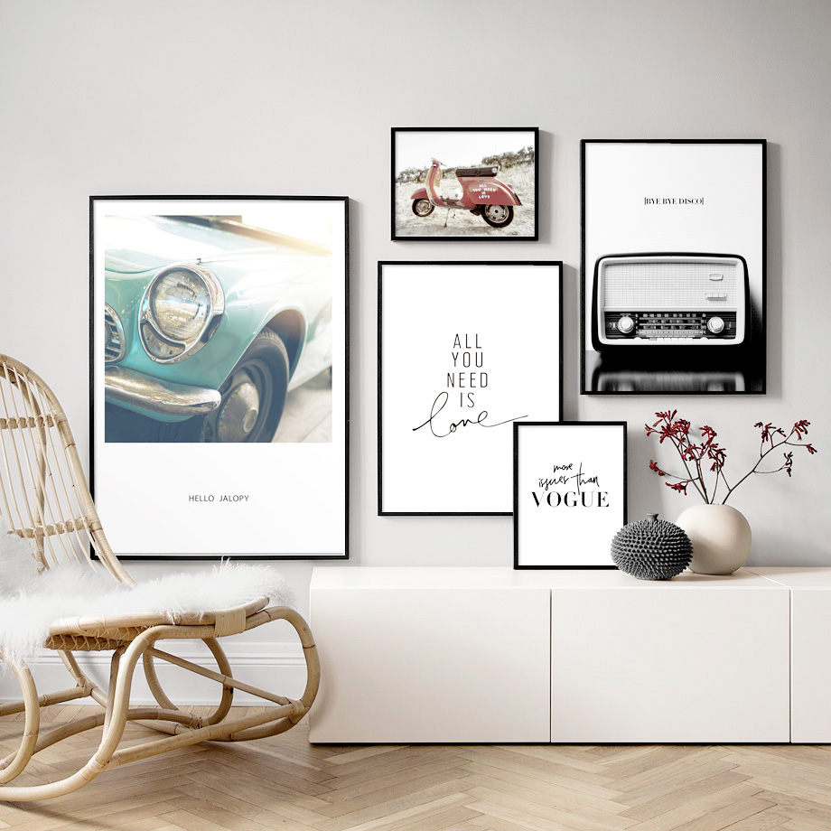 Vintage Wall Decor For Living Room.Us 3 28 44 Off 7 Space Vogue Radio Car Quotes Vintage Wall Art Canvas Painting Nordic Posters And Prints Wall Pictures For Living Room Decor In