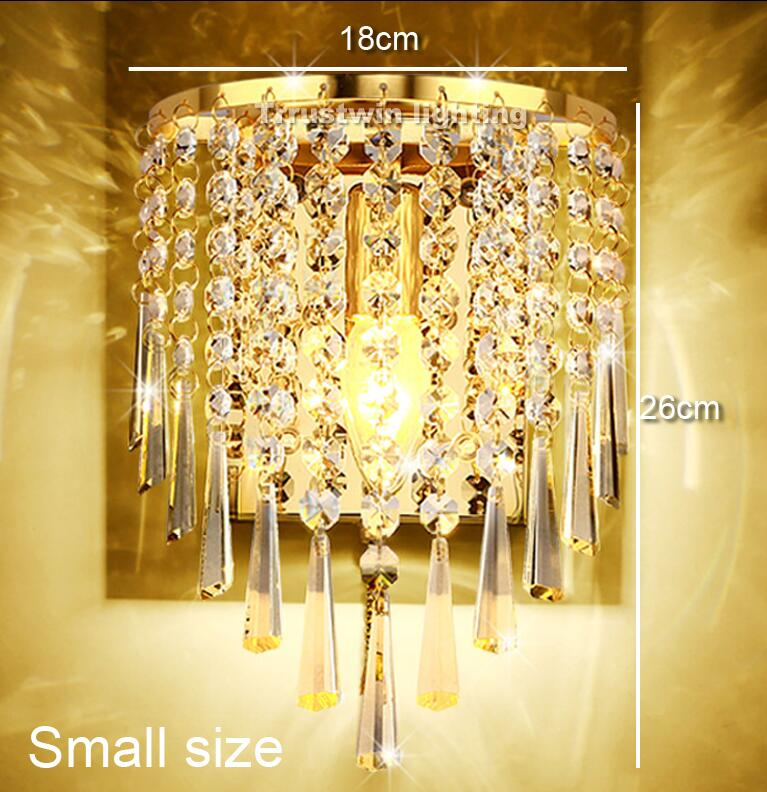 Online Shop Classic crystal chandelier wall light gold crystalline ...