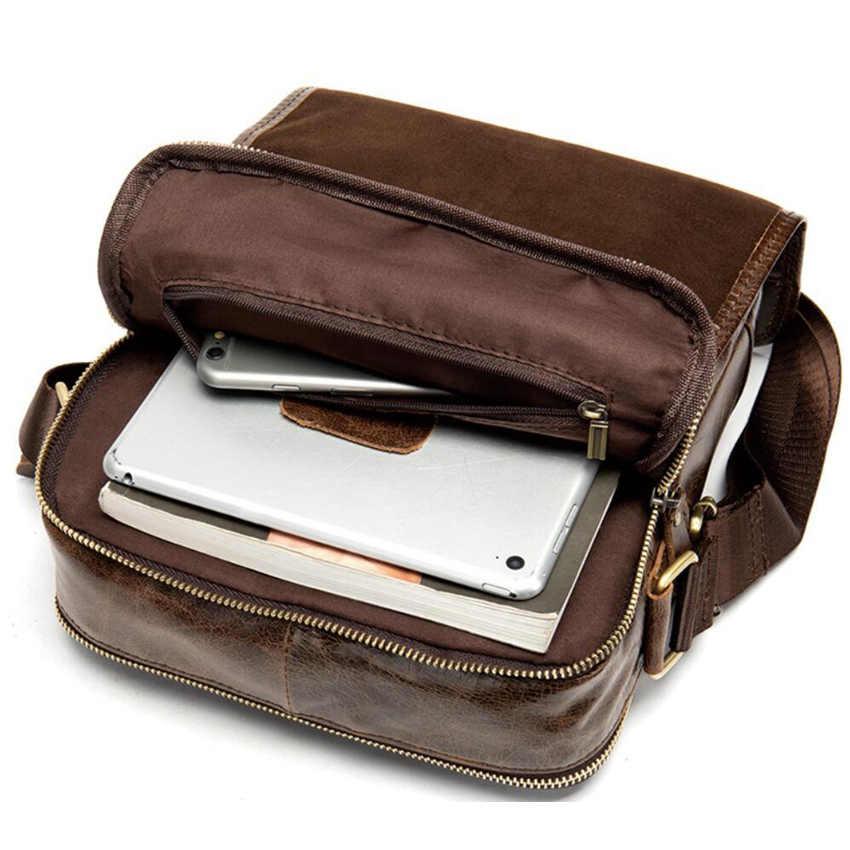 Gravierte Name oder logo Männer Messenger tasche Aus Echtem Leder strap Kleine Lässige Flap Vintage Männer Handtaschen Männlichen Umhängetaschen