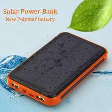 Солнечный Запасные Аккумуляторы для телефонов Dual USB Запасные Аккумуляторы для телефонов 30000 мАч Водонепроницаемый Мощность Bank Bateria внешняя Портативный Панели солнечные универсальный