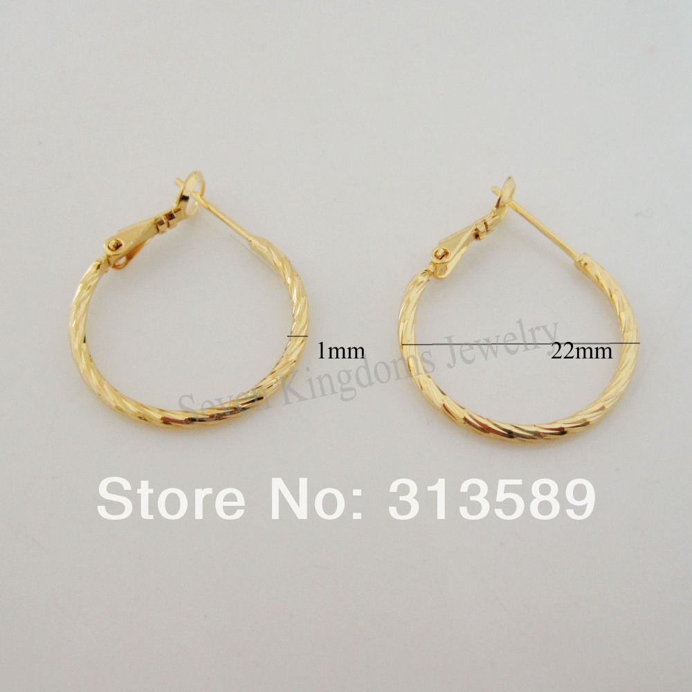 New Great Cute 24k Yellow Gold Gp Solid