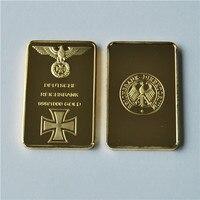 Square Commemorative Coin, German Eagle gold bullion bar Deutsche Reichsbank 999 Fine Gold, 50/100Pcs/Lot, DHL free shipping