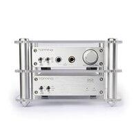 TOPPING A30+D30 Headphone Power Amplifier+Decoder Set Support DAC USB DAC/Optical Fiber/Coaxial Decoding XMOS+TPA6120 Silver New