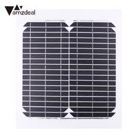 15W 12V Foldable Solar Panel Polysilicon Outdoor Travel Battery Charger Charging