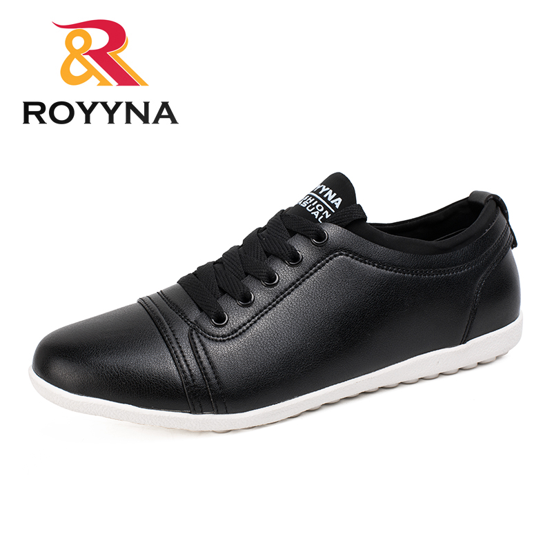 ROYYNA New Arrival Hot Style Men Casual Shoes Lace Up Microfiber Men Shoes Comfortable Men Flats Light Soft Fast Free Shipping alex hoo free shiping hot selling 2016 new breathable comfortable lace up rubber sloe men s casual leather shoes csh00200