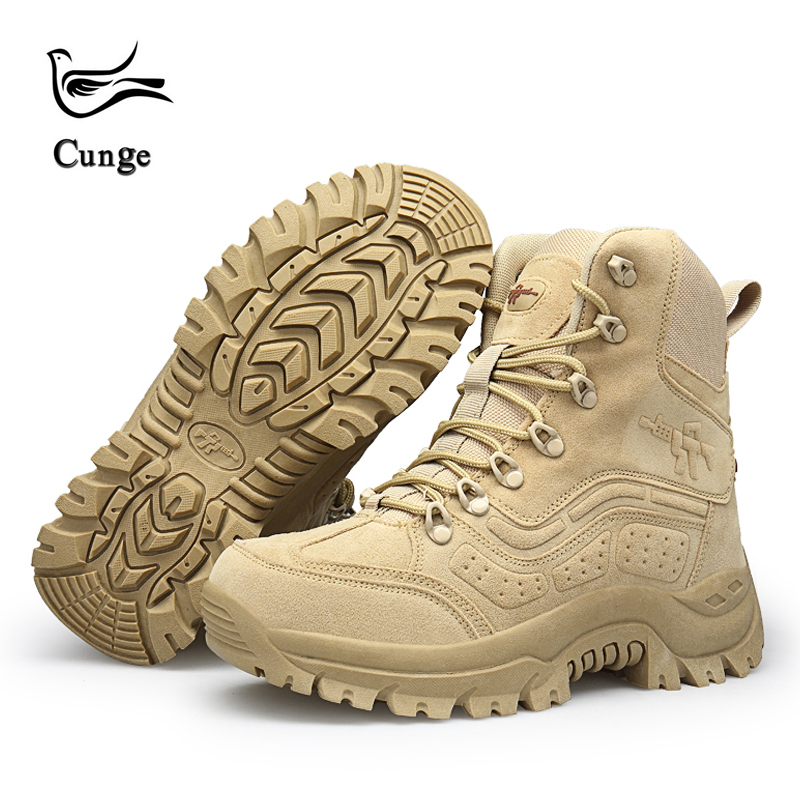 цена Men Desert Tactical Military Boots Mens Work Safty Shoes SWAT Army Boot Fashion Militares Tacticos Zapatos Ankle Combat Boots