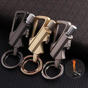 Matches Kerosene Lighter Multi-function Key Ring Outdoor Waterproof Portable Metal Keychain Petrol Lighters Band Bottle Opener(China)