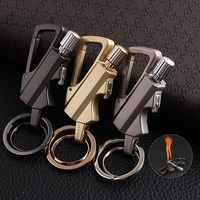 Matches Kerosene Lighter Multi-function Key Ring Outdoor Waterproof Portable Metal Keychain Petrol Lighters Band Bottle Opener