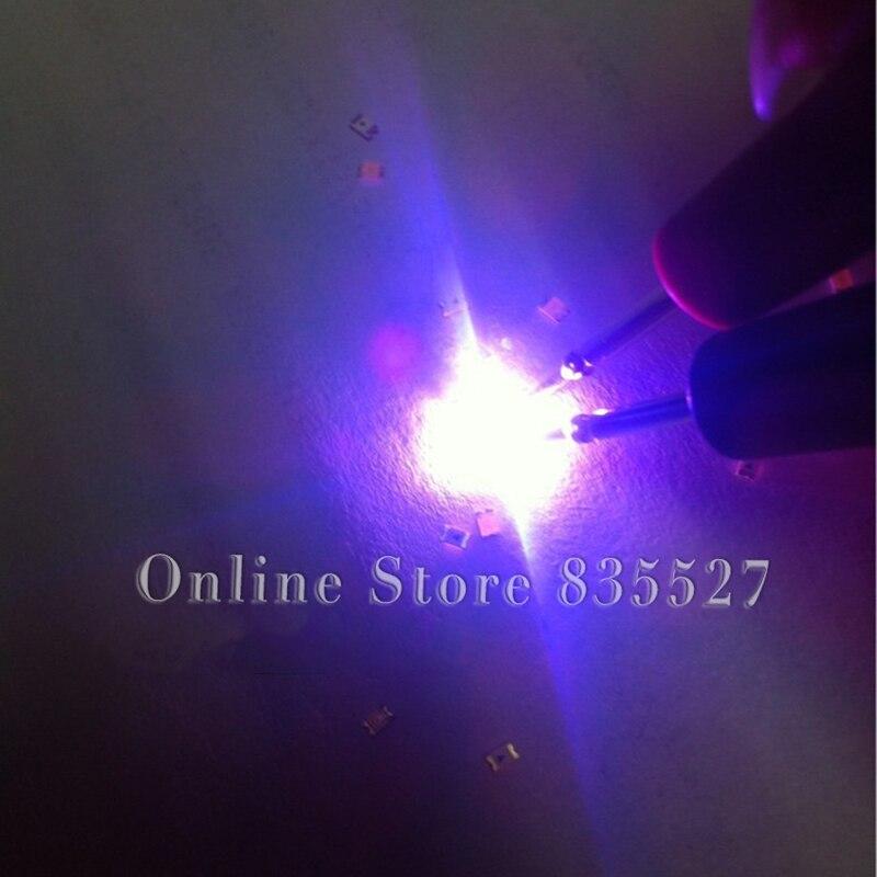 4000PCS/LOT SMD 0603 SMD Bright UVB Purple LED Light Emitting Diode (LED) 1608 Violet