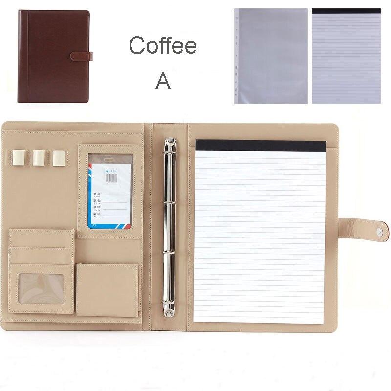 Dossier multifonction en faux cuir a4 sans danger pour les documents sac en papier dossiers de documents padfolio pour accessoires de bureau 1200 H