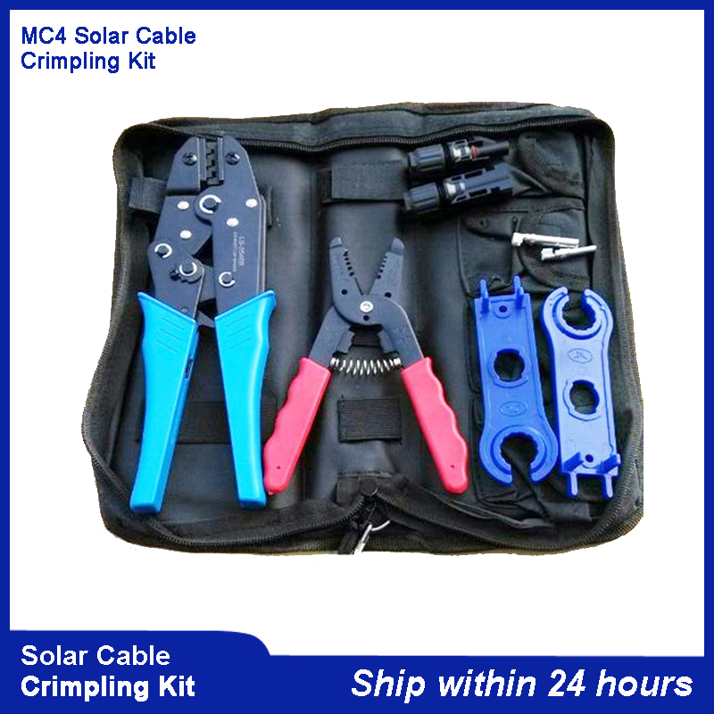 Top MC4 Crimping Tool Kits for MC4 Connector Solar Cable 2.5m2 4mm2 6mm2 PV Crimp Cutting tools kits DIY Wire pz0 5 16 0 5 16mm2 crimping tool bootlace ferrule crimper and 1k 12 awg en4012 bare bootlace wire ferrules