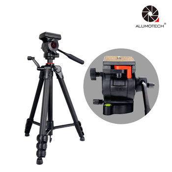 ALUMOTECH Pro Portable Tripod Stand Max Load 5kg Aluminum Material For Camera Video Studio Photography Supporting