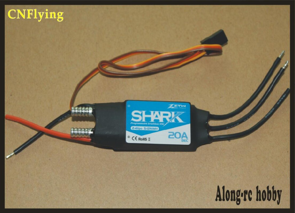 free shipping - ztw shark 20A 40A 50A 60 70 80A Waterproof brushless ESC For Boat With Water-cooling System RC boat model low price sell brushless esc for car boats rc model 50a brushless esc for boat with water cooling system brake xxd50a