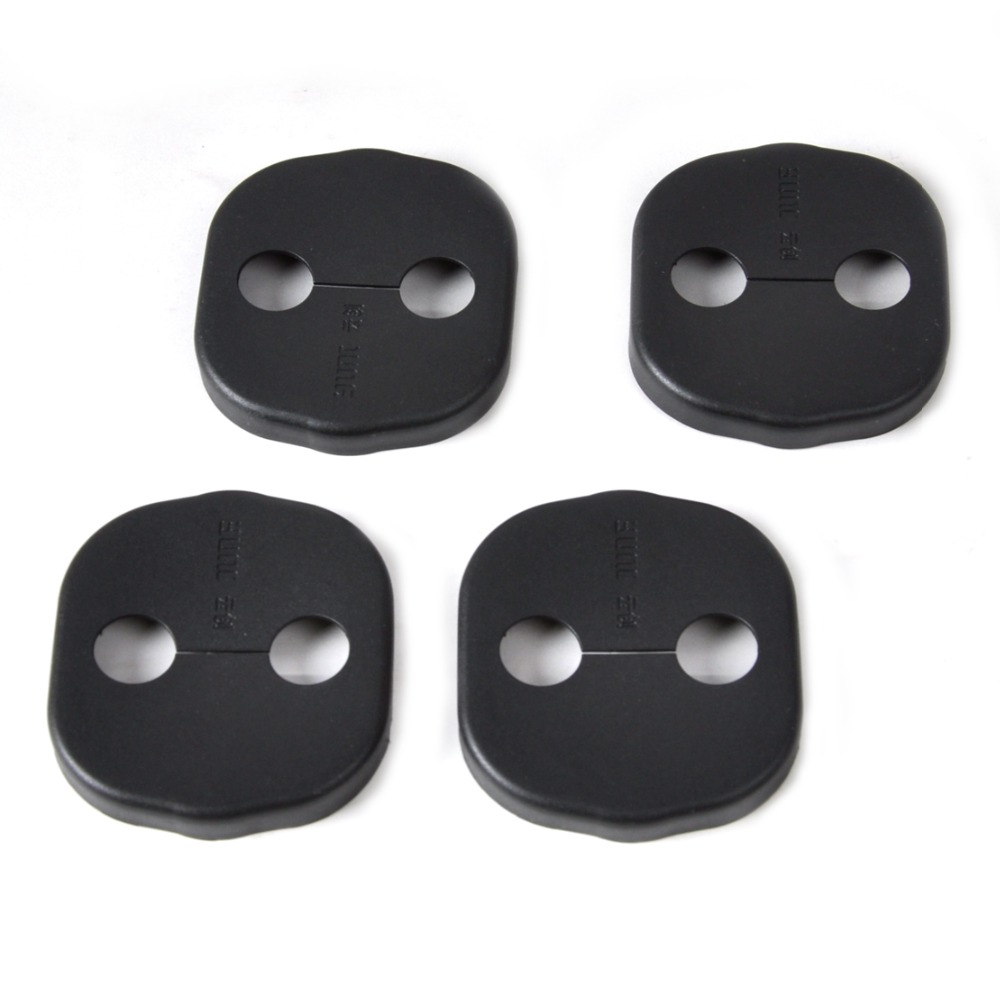 CITALL New 4pcs Car Door Striker Cover Lock Protector Antirust For Kia Sorento Optima Hyundai Santa Fe 2012 2013 2014 2015