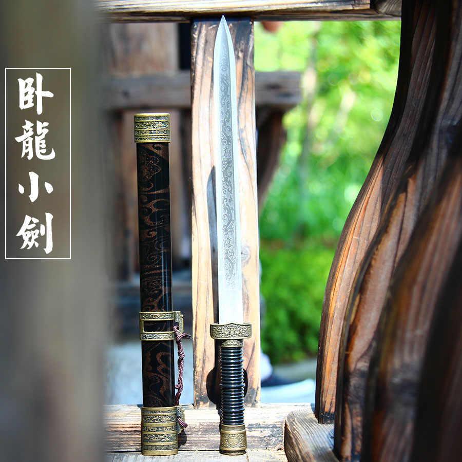 Long tuyền mini gươm thép không gỉ tự vệ nhỏ ngắn thanh kiếm cổ xưa Han thanh kiếm nhỏ không phải là đã cắt cạnh cho trẻ em hoặc