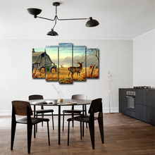 Canvas Painting Wall Art HD Prints 5 Pieces Home Decor Bedside Background Animal Modular Pictures Frame Artwork Poster Abooly