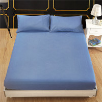 Solid Colour Fitted Sheet Height 30CM King Bed Apron Bedspread Bedlinen 150*200 bed sheet bed cover with pillowcase 3pcs