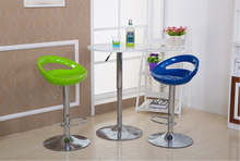 green blue bar chair lifting rotation plastic seat bar coffee house stool free shipping shop furniture