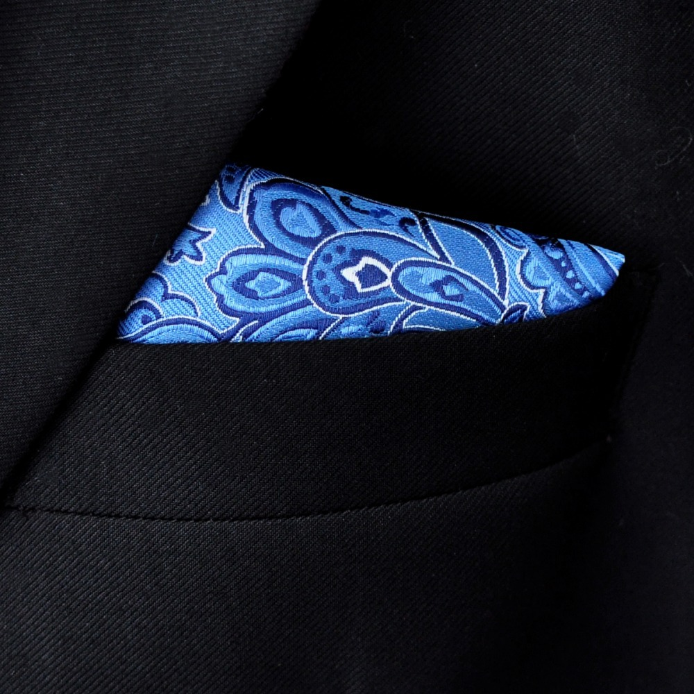 38483f10d36a5 Royal Blue Paisley Pocket Square Mens Ties Silk Jacquard Woven Hanky  Handkerchief-in Men's Ties & Handkerchiefs from Apparel Accessories on  Aliexpress.com ...