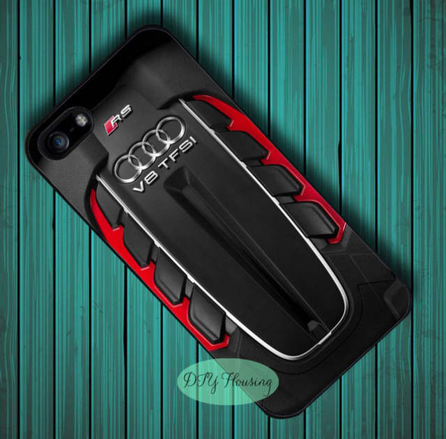 new arrival 4d671 e514a US $4.99 |The Audi Twin Turbo V8 case for iphone X 4s 5 5s SE 5c 6 6s 7 8  Plus Samsung J7 s4 s5 mini s6 s7 s9 edge plus Note 3 4 8-in Half-wrapped ...