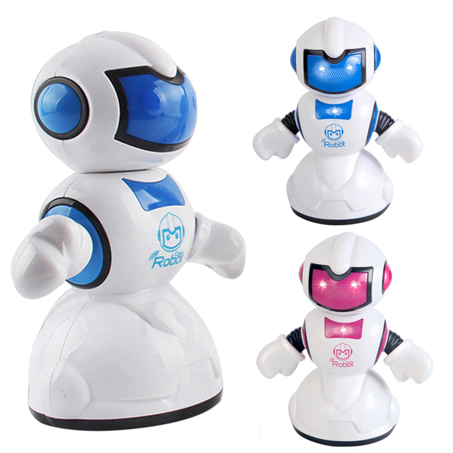 RC Robot Toy ABS Plastic Flashing LED Light Children Remote Control Musical Toy RC Robot Gift for Kids Pink/Blue