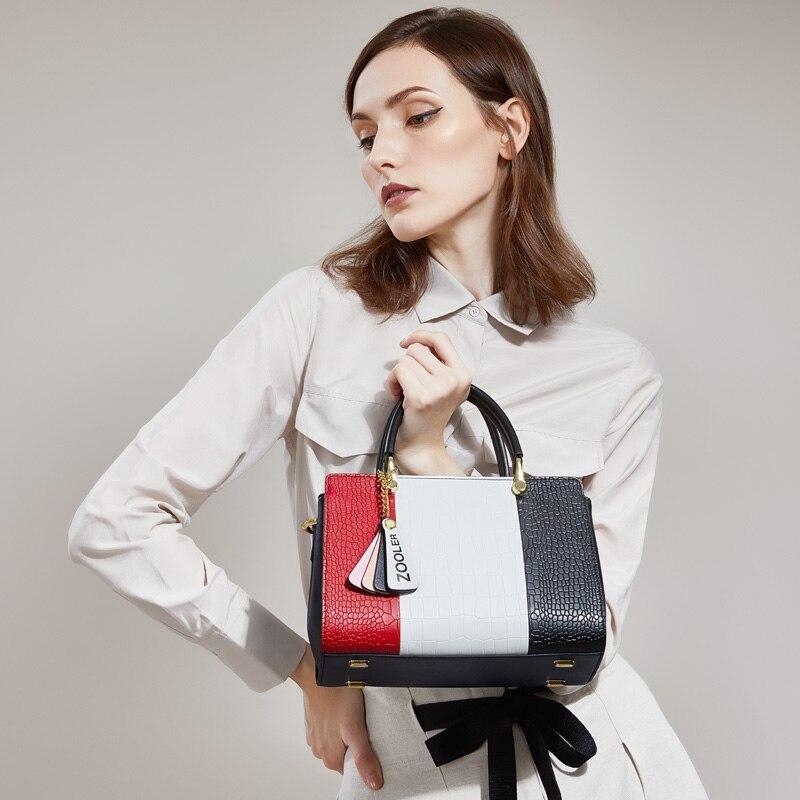 2019 nouveau luxe en cuir véritable sacs femmes ZOOLER sac à main femme en cuir fourre-tout sac de haute qualité bolsa feminina # Y110