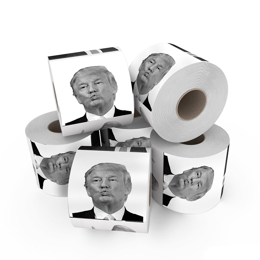 1 Roll President Donald Trump Toilet Paper Roll Gag Gift Prank Joke On Sale  nice Dropshipping Islamabad